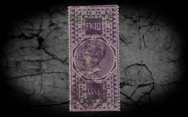 India Off SGO18 8a Purple (G) w/Cert GU/FU CV£13000